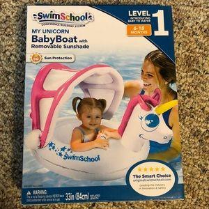 SwimSchool Unicorn Baby Boat